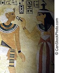 egypte, tombe, art