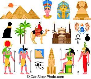 Egyptian Art Flat Collection