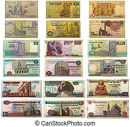 Egyptian Banknotes - Egyptian banknotes (front and back) ...