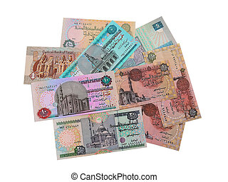 Egyptian banknotes.