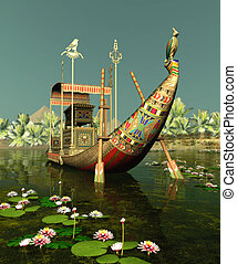 Egyptian Bark - Egyptian Barge