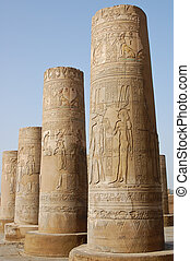 Egyptian carving on columns