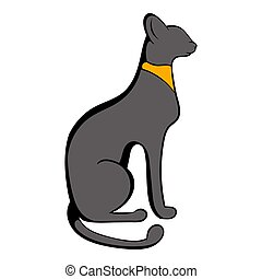 Egyptian cat icon cartoon