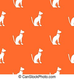 Egyptian cat pattern seamless