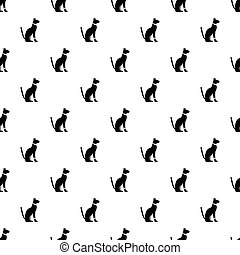 Egyptian cat pattern vector