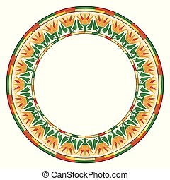 Egyptian circular ornament.