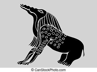 egyptian demon - vector