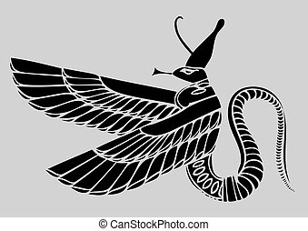 Egyptian demon - vector - Image of the Egyptian demon -...