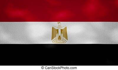 Egyptian dense flag fabric wavers, background loop - Egypt ...