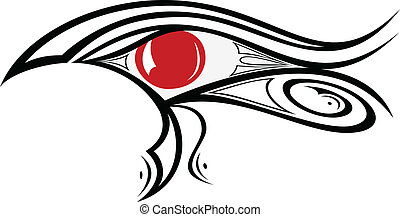 Egyptian Eye Ra 1 - illustration of Egyptian god eye Ra