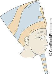 egyptian face art draw