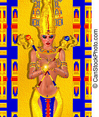 Egyptian fantasy art of a mysterious and powerful mystic...