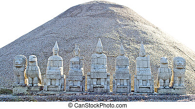 Egyptian Figurines And A Sand Dune