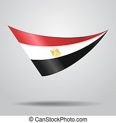 Egyptian flag background. Vector illustration.