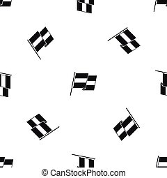 Egyptian flag pattern seamless black