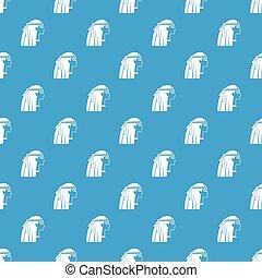 Egyptian girl pattern seamless blue - Egyptian girl pattern...