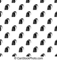 Egyptian girl pattern vector
