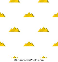 Egyptian Giza pyramids pattern seamless