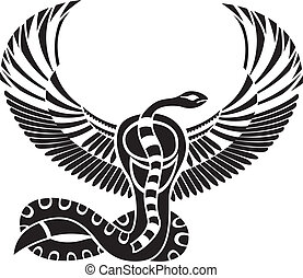 Egyptian god of Death, snake