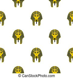 Egyptian golden pharaohs mask pattern seamless background in...