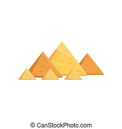 Egyptian great pyramids, attractions of Egypt vector Illustration