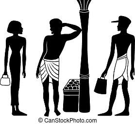 egyptian-greek, 古代, シルエット