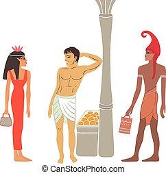 egyptian-greek, 古代, 交渉