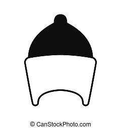 Egyptian hat icon, silhouette style - Egyptian hat icon in...