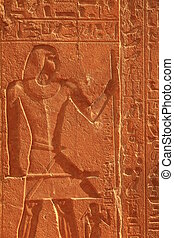 egyptian hieroglyphic - close up of Egyptian hieroglyphic