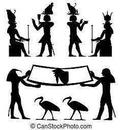 egyptian hieroglyphs and fresco - Egyptian hieroglyphs and ...