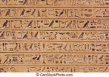 Egyptian hieroglyphs background - Egyptian hieroglyphics...