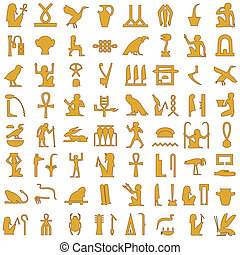 Egyptian hieroglyphs Decor Set 1 - A collection of ancient...