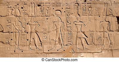 Egyptian hieroglyphs - Egyptian antique hieroglyphs from...