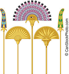Egyptian Large Fans - Illustration of an egyptian large fans...