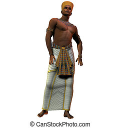 Egyptian Man - A portrait of an Egyptian man and the fashion...