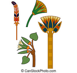 old ancient ornaments in vector eps file