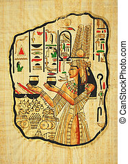 egyptian painting on papyrus