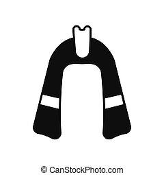 Egyptian Pharaoh hat icon, silhouette style - Egyptian...