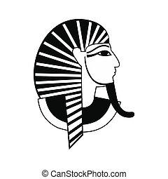 Egyptian pharaoh icon, simple style