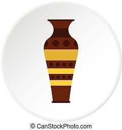 Egyptian pottery vessel icon circle