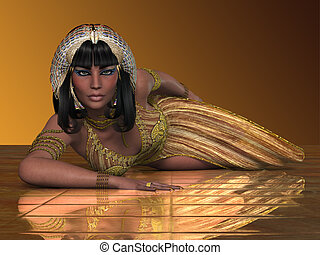 Egyptian Priestess - An Egyptian lady with traditional...