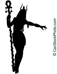 Egyptian priestess woman silhouette