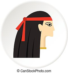 Egyptian princess icon circle - Egyptian princess icon in...