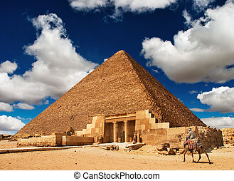 Egyptian pyramid - Ancient egyptian pyramid in Giza