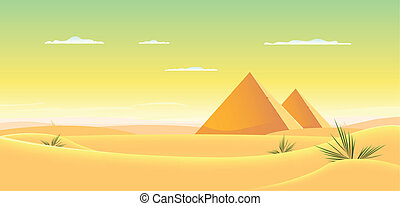 Egyptian Pyramid - Illustration of egyptian pyramids inside...