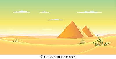 Egyptian Pyramid - Illustration of egyptian pyramids inside ...