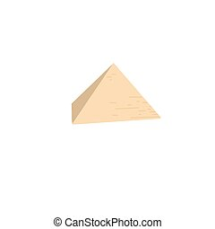 Egyptian pyramid in Giza, famous architectural structure,...