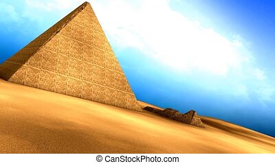 Egyptian pyramids animation.