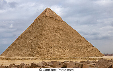 Egyptian pyramids in of Giza, Egypt