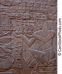 Egyptian relief on wall